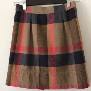 "Lands end plaid skirt, 16"" long"